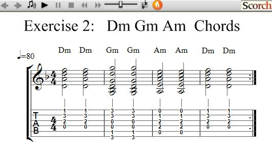 FlyBFree.com - D-G-A Chord Exercise