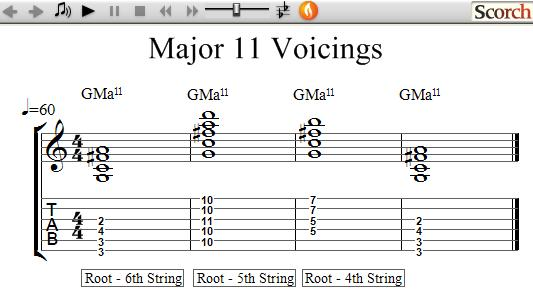 Flybfree 11th Chord Voicings